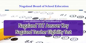 Nagaland TET Answer Key 2018 Download – Teacher Eligibility Test Nagaland